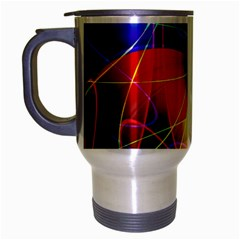 Fractal Pattern Abstract Chaos Travel Mug (silver Gray)
