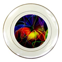 Fractal Pattern Abstract Chaos Porcelain Plates by Nexatart