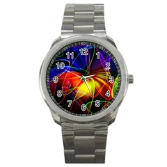 Fractal Pattern Abstract Chaos Sport Metal Watch