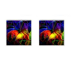 Fractal Pattern Abstract Chaos Cufflinks (square) by Nexatart