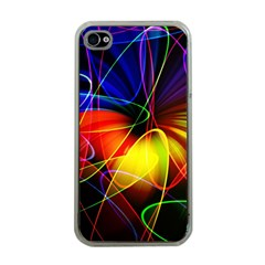 Fractal Pattern Abstract Chaos Apple Iphone 4 Case (clear)
