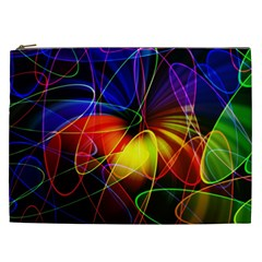 Fractal Pattern Abstract Chaos Cosmetic Bag (xxl)