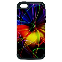 Fractal Pattern Abstract Chaos Apple Iphone 5 Hardshell Case (pc+silicone)