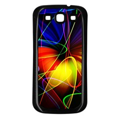 Fractal Pattern Abstract Chaos Samsung Galaxy S3 Back Case (black)