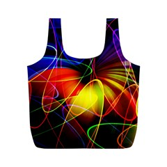Fractal Pattern Abstract Chaos Full Print Recycle Bags (m)