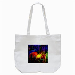 Fractal Pattern Abstract Chaos Tote Bag (white)