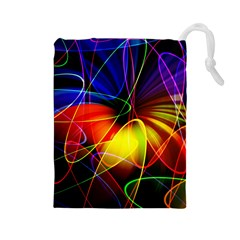 Fractal Pattern Abstract Chaos Drawstring Pouches (large)