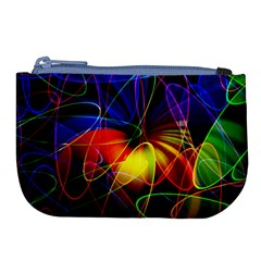 Fractal Pattern Abstract Chaos Large Coin Purse