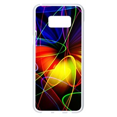 Fractal Pattern Abstract Chaos Samsung Galaxy S8 Plus White Seamless Case