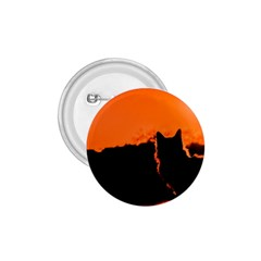 Sunset Cat Shadows Silhouettes 1 75  Buttons