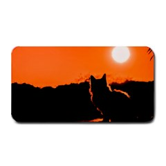 Sunset Cat Shadows Silhouettes Medium Bar Mats