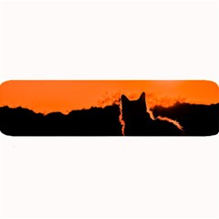 Sunset Cat Shadows Silhouettes Large Bar Mats