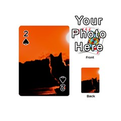 Sunset Cat Shadows Silhouettes Playing Cards 54 (mini)