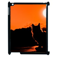 Sunset Cat Shadows Silhouettes Apple Ipad 2 Case (black)