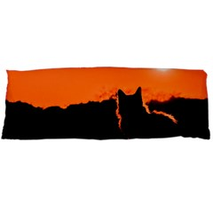 Sunset Cat Shadows Silhouettes Body Pillow Case (dakimakura)