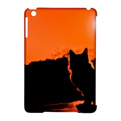 Sunset Cat Shadows Silhouettes Apple Ipad Mini Hardshell Case (compatible With Smart Cover)