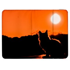 Sunset Cat Shadows Silhouettes Samsung Galaxy Tab 7  P1000 Flip Case