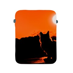 Sunset Cat Shadows Silhouettes Apple Ipad 2/3/4 Protective Soft Cases
