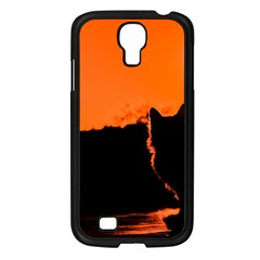 Sunset Cat Shadows Silhouettes Samsung Galaxy S4 I9500/ I9505 Case (black)