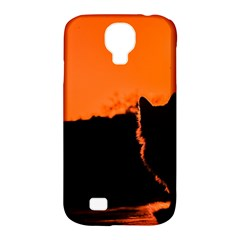 Sunset Cat Shadows Silhouettes Samsung Galaxy S4 Classic Hardshell Case (pc+silicone)