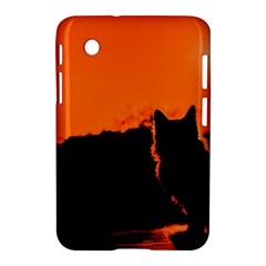 Sunset Cat Shadows Silhouettes Samsung Galaxy Tab 2 (7 ) P3100 Hardshell Case