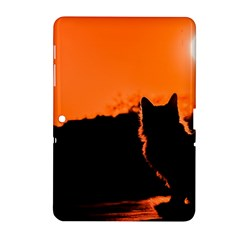 Sunset Cat Shadows Silhouettes Samsung Galaxy Tab 2 (10 1 ) P5100 Hardshell Case
