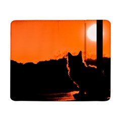 Sunset Cat Shadows Silhouettes Samsung Galaxy Tab Pro 8 4  Flip Case