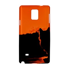 Sunset Cat Shadows Silhouettes Samsung Galaxy Note 4 Hardshell Case