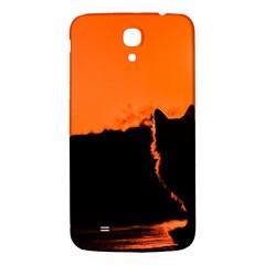 Sunset Cat Shadows Silhouettes Samsung Galaxy Mega I9200 Hardshell Back Case