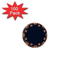 Floral Vintage Royal Frame Pattern 1  Mini Buttons (100 Pack)
