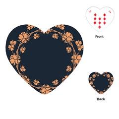 Floral Vintage Royal Frame Pattern Playing Cards (heart)