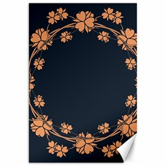 Floral Vintage Royal Frame Pattern Canvas 20  X 30