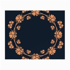 Floral Vintage Royal Frame Pattern Small Glasses Cloth (2 Side)