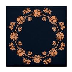 Floral Vintage Royal Frame Pattern Face Towel