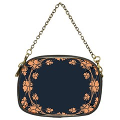 Floral Vintage Royal Frame Pattern Chain Purses (one Side)