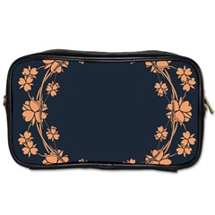 Floral Vintage Royal Frame Pattern Toiletries Bags 2 Side