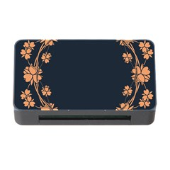 Floral Vintage Royal Frame Pattern Memory Card Reader With Cf