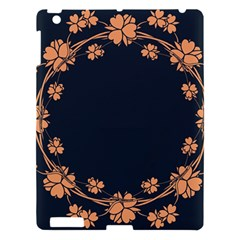 Floral Vintage Royal Frame Pattern Apple Ipad 3/4 Hardshell Case