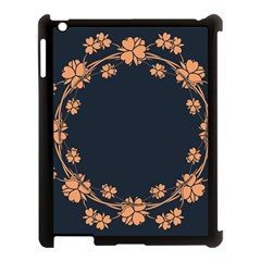 Floral Vintage Royal Frame Pattern Apple Ipad 3/4 Case (black)