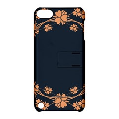 Floral Vintage Royal Frame Pattern Apple Ipod Touch 5 Hardshell Case With Stand
