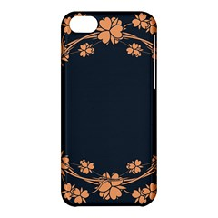 Floral Vintage Royal Frame Pattern Apple Iphone 5c Hardshell Case by Nexatart