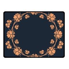 Floral Vintage Royal Frame Pattern Double Sided Fleece Blanket (small)