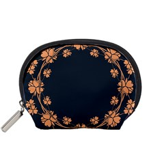 Floral Vintage Royal Frame Pattern Accessory Pouches (small)