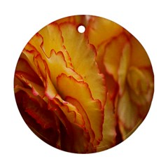 Flowers Leaves Leaf Floral Summer Ornament (round)