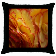 Flowers Leaves Leaf Floral Summer Throw Pillow Case (black)