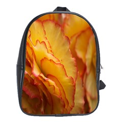 Flowers Leaves Leaf Floral Summer School Bag (large)