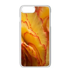 Flowers Leaves Leaf Floral Summer Apple Iphone 8 Plus Seamless Case (white) by Nexatart