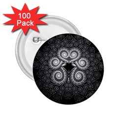 Fractal Filigree Lace Vintage 2 25  Buttons (100 Pack)