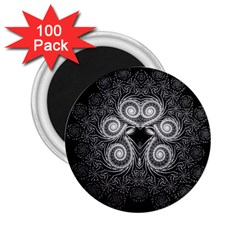Fractal Filigree Lace Vintage 2 25  Magnets (100 Pack)