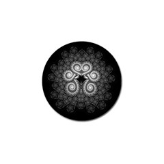 Fractal Filigree Lace Vintage Golf Ball Marker